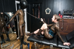 Domme Discordia Latex Fetish Dominatrix NYC