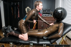 Domme Discordia Latex Fetish Dominatrix NYC Erotic Domination